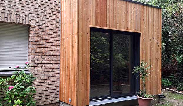Extension de maison cubique toit plat