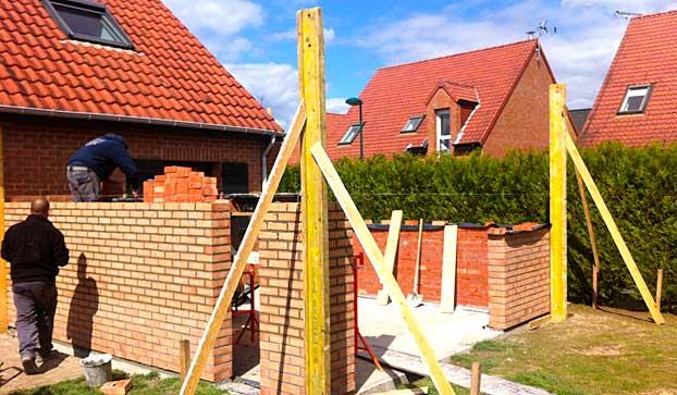 Extension en cours en brique