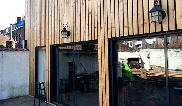 Extension de maison en bardage bois