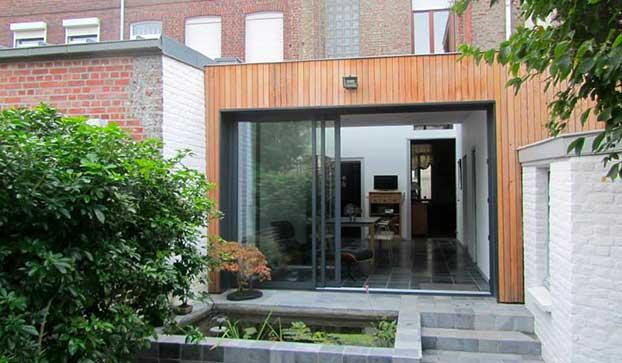 Extension de maison avec puit de lumière